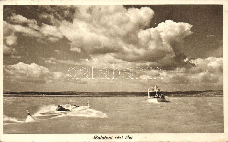 ship, Balatoni vízi élet, hajó