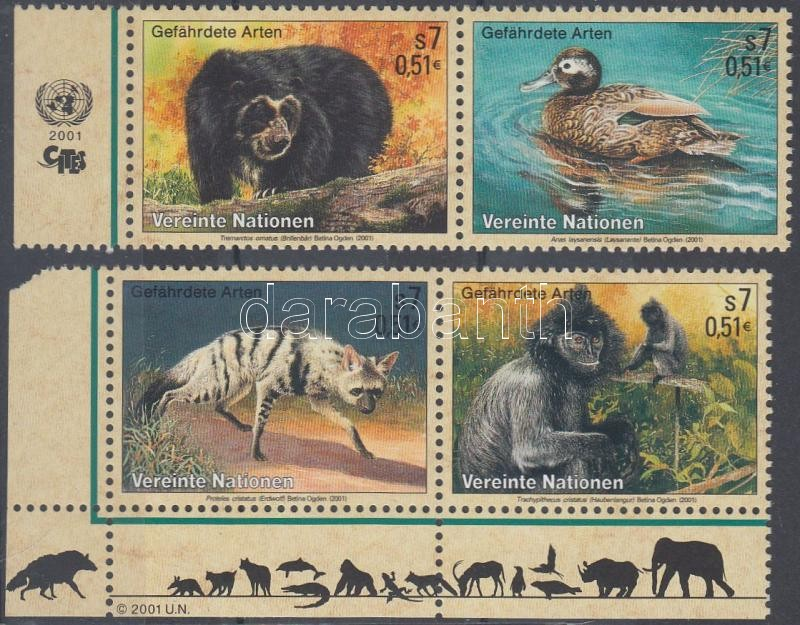 Endangered Animals margin + corner pair (Set), Veszélyeztetett állatok ívszéli + ívsarki pár (sor)
