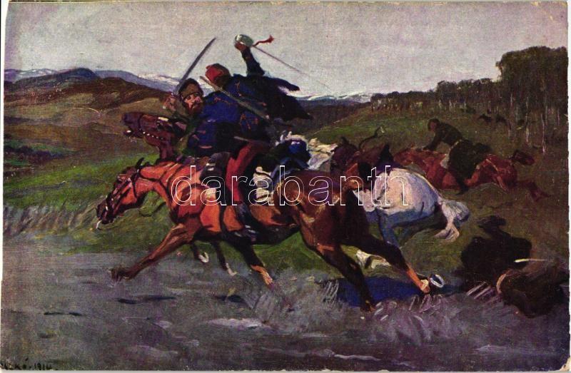 The death of the Cossacks in Máramaros, s: Juszkó (cut), Kozákhalál Máramarosban s: Juszkó (vágott)