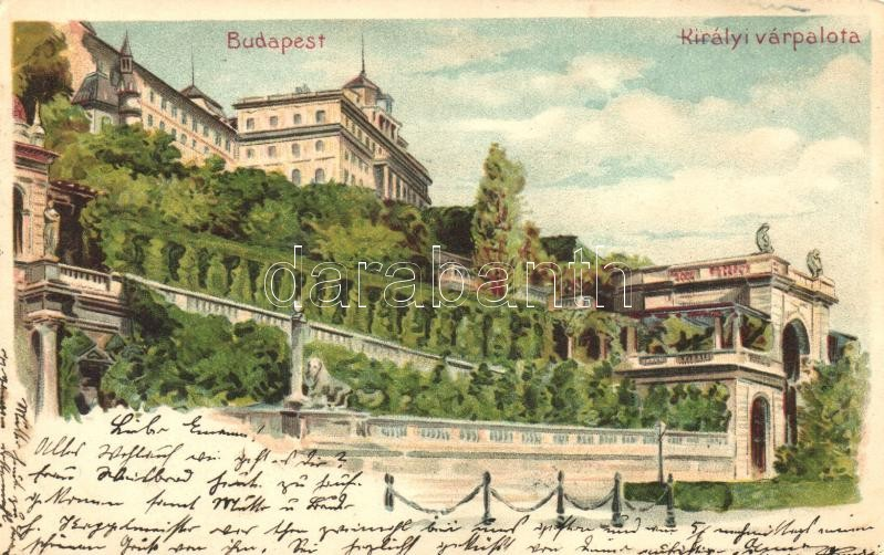 Budapest I. Királyi várpalota litho
