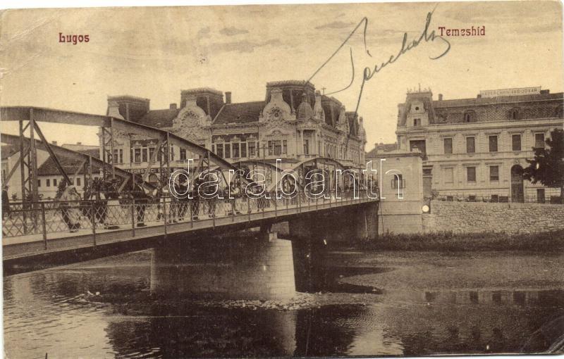 Lugoj, bridge, iron shop, Lugos, Temes híd, Haberehrn vasudvar