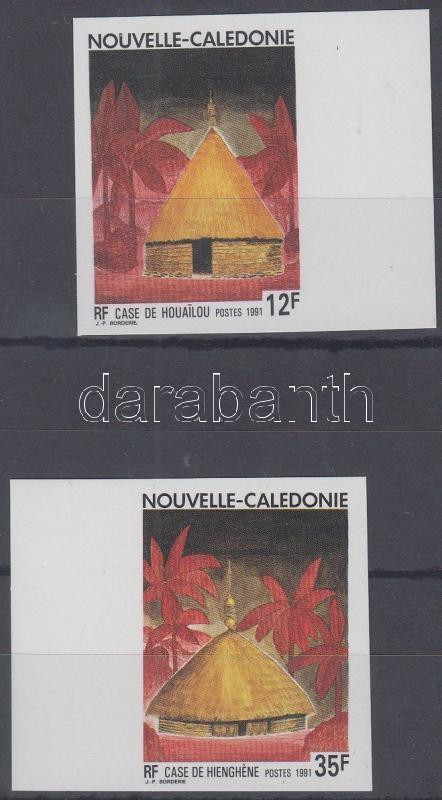 Traditional houses margin imperforated set, Hagyományos házak ívszéli vágott sor