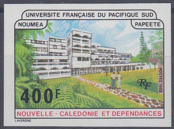 French university at Noumea and Papeete imperforated stamp, Francia egyetem Nouméán és Papeete-en vágott bélyeg