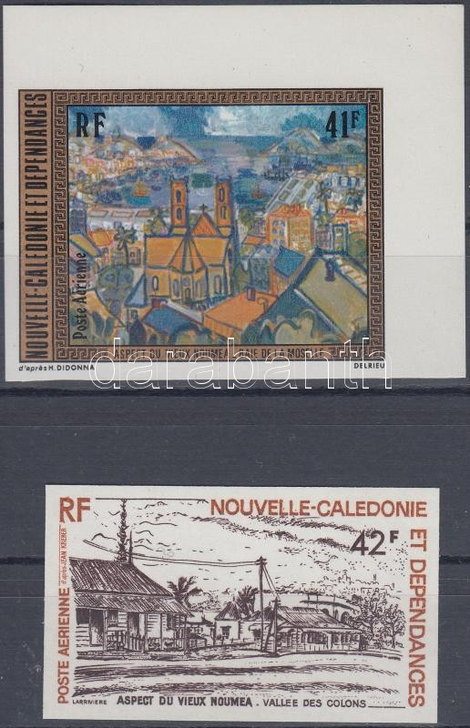 Paintings imperforated set (with margin), Festmények vágott sor (közte ívsarki bélyeg)