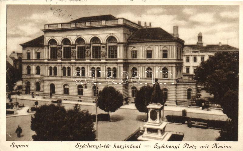 Sopron, Széchenyi tér, kaszinó