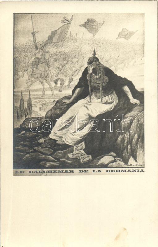 Le cauchemar de la Germania / French military propaganda s: Damblans (minor pinhole), Francia katonai propaganda s: Damblans (apró lyuk)
