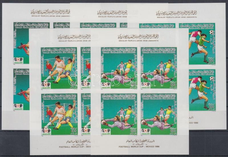 Football World Cup 5 imperforated mini sheet, Labdarúgó VB 5 vágott kisív