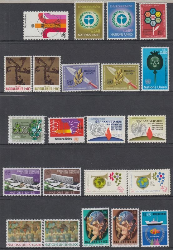 22 diff. stamps, 22 klf bélyeg