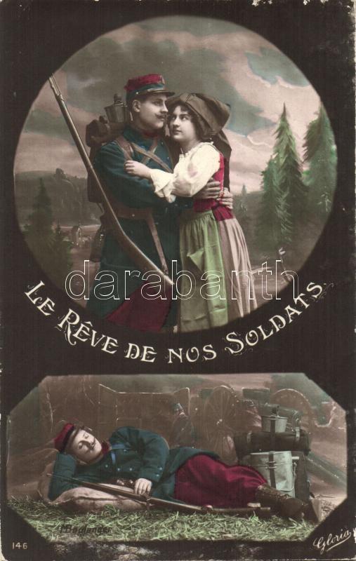 The dream of soldiers, romantic couple, Katonák álma, romantikus pár