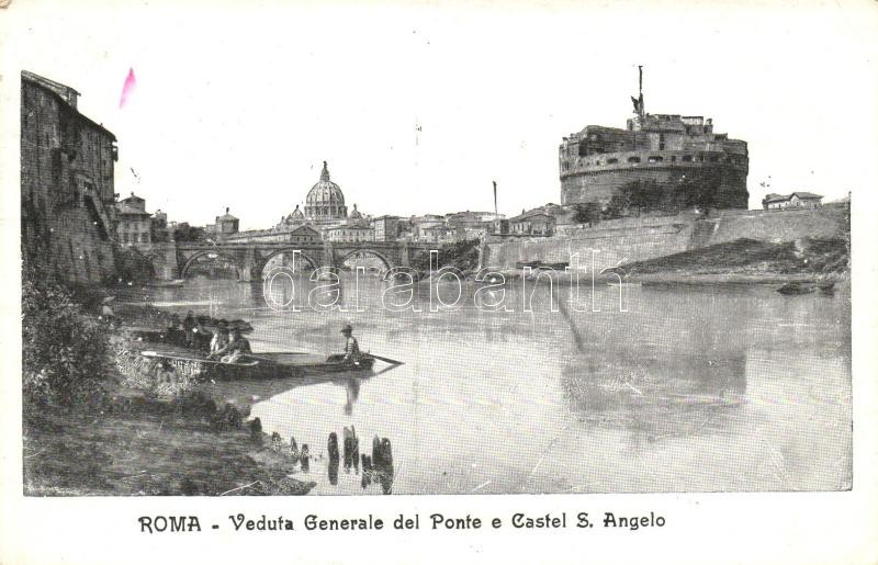Rome, Roma; Ponte, Castel S. Angelo / bridge, castle