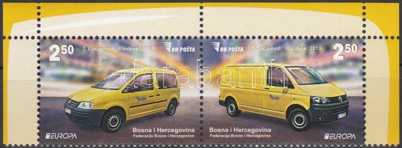 Europa CEPT Postal vehicles pair, Europa CEPT Postai járművek pár