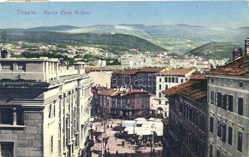 Trieste, Piazza Carlo Goldoni / square