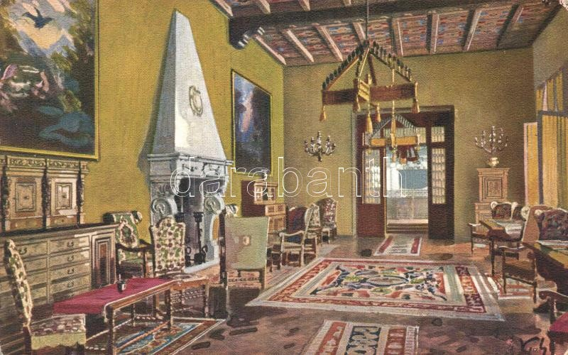 Olaszország; T2; San Remo, Casino Municipale, Sala di Lettura / Casino, Reading Room