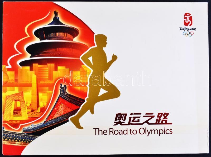 Bélyegkönyv: Úton az Olimpia felé, kínai-angol nyelvű, díszdobozban, ;**