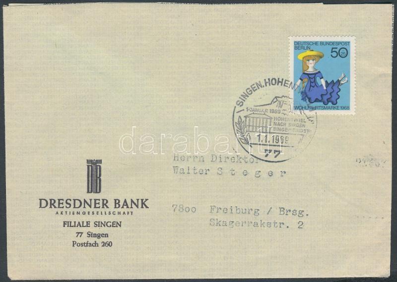 Wohlfahrt single franking on cover, Wohlfahrt egyes bérmentesítés levélen