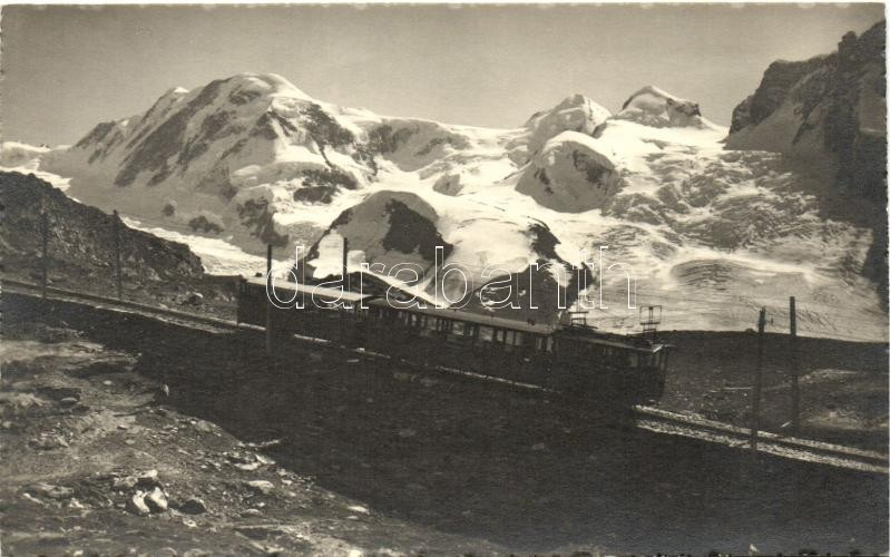 Zermatt, Gornergrat, Bergbahn / funicular, mountain peaks