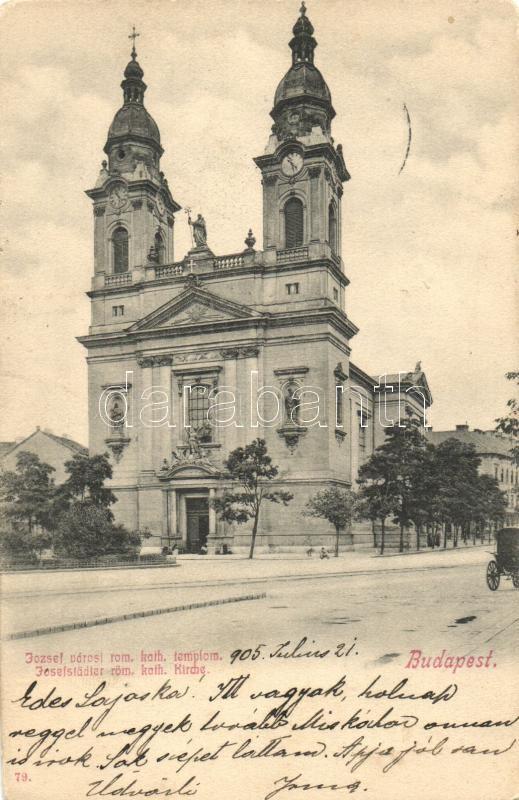 Budapest VIII. Józsefvárosi római katolikus templom