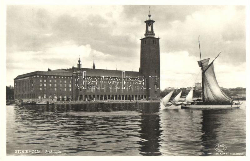 Stockholm, Stadthuset, sailing ship