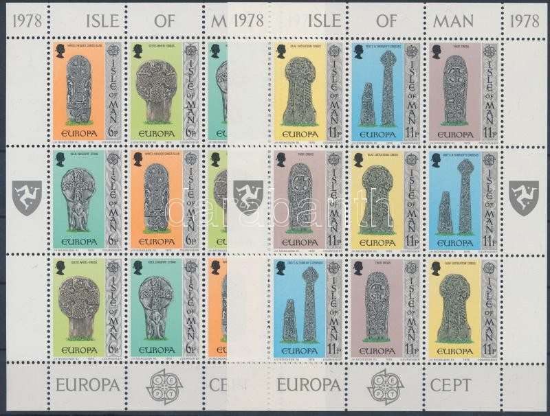 Europa CEPT Monuments mini sheet set, Europa CEPT Műemlékek kisív sor