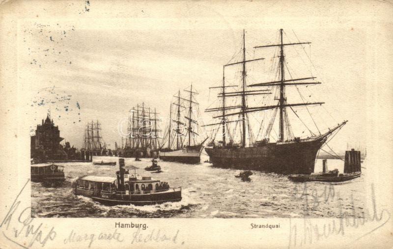Hamburg, port, ships, Martini, Erna
