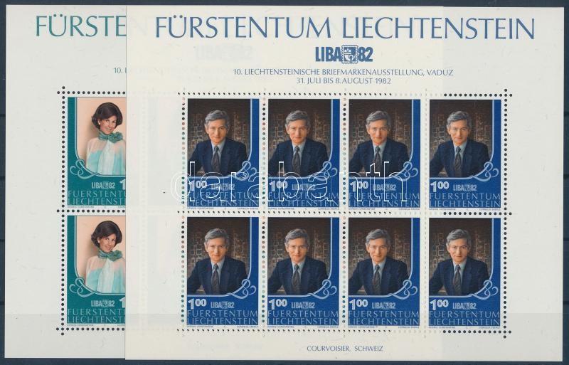 LIBA '82 Stamp Exhibition minisheet set, LIBA '82 bélyegkiállítás kisívsor