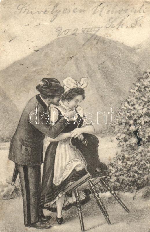 Romantic couple, 1902 Romantikus pár