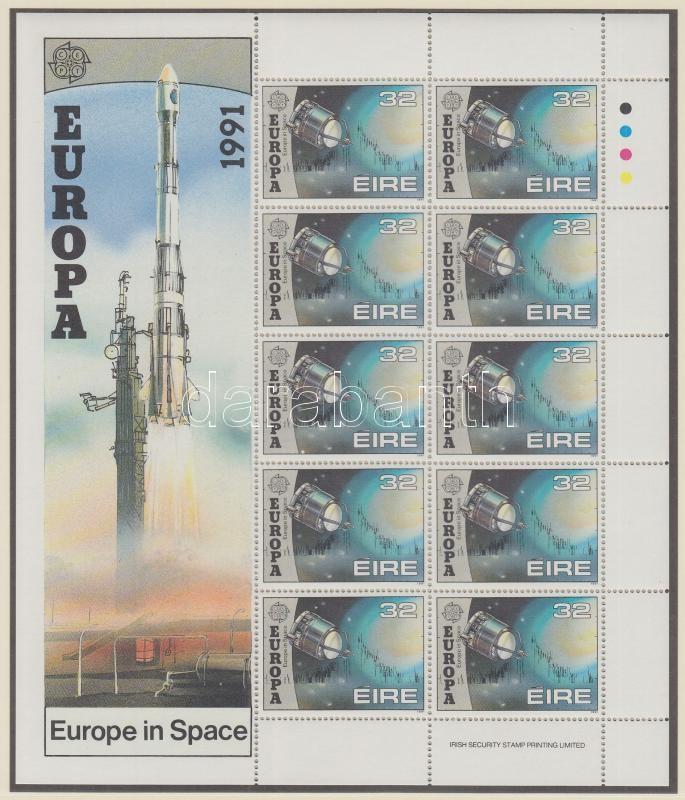 Europa CEPT Space travel mini sheet set, Europa CEPT Űrutazás kisív sor