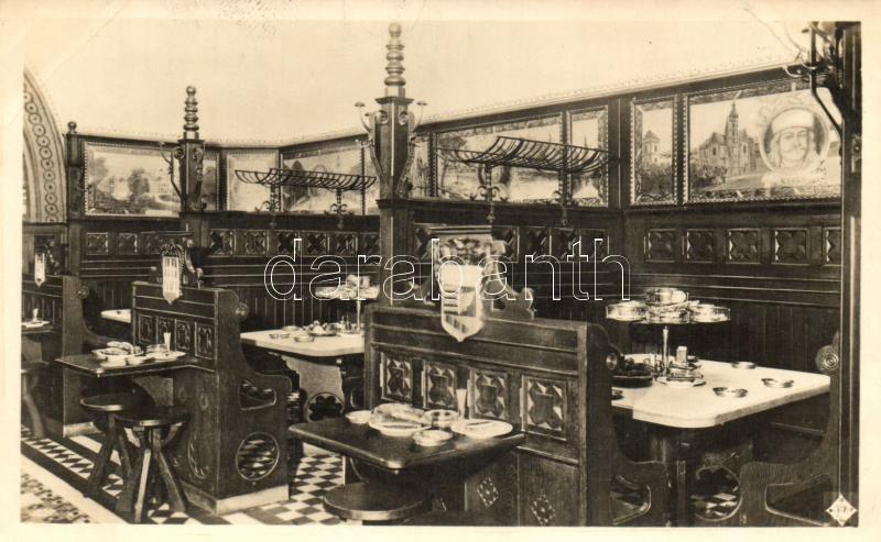 Budapest V. Kigyó utca 6., Förster János és Förster Pál sörözője az Apostolokhoz, fülkék az Irredenta teremben