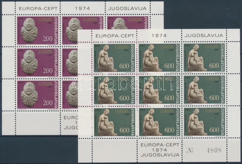 Europa CEPT Sculpture mini sheet set, Europa CEPT Szobrászat kisív sor