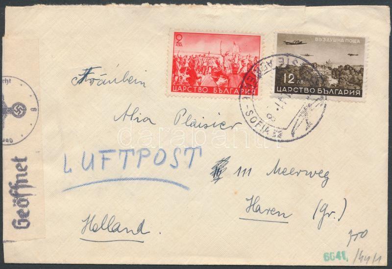 Airmail cover to Holland, Légi levél Hollandiába
