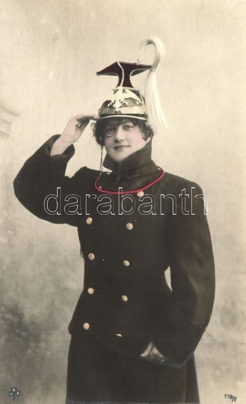 Lady in Uhlan uniform, Hölgy ulánus egyenruhában