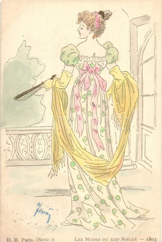 Les Modes Du XIX Siécle - 1803. / Fashions of XIX century, H.B. Paris, Série I, XIX. századi divat, H.B. Paris, Série I
