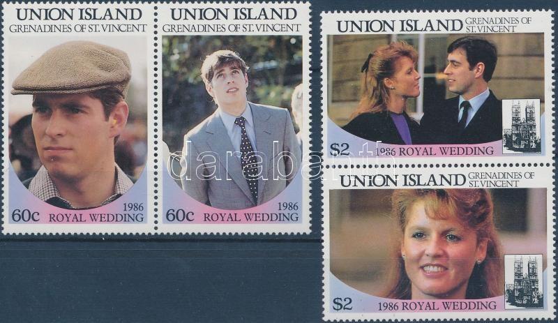 1985-1987 Royak Family set (2 pairs) + 2 blocks, 1985-1987 Királyi család sor (2 pár) + 2 blokk (3 stecklap)