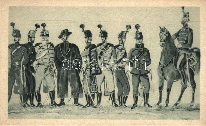 Hungarian soldiers, cavalry, Magyar hadseregképek, lovasság, 'Negyvennyolc' sorozat I.