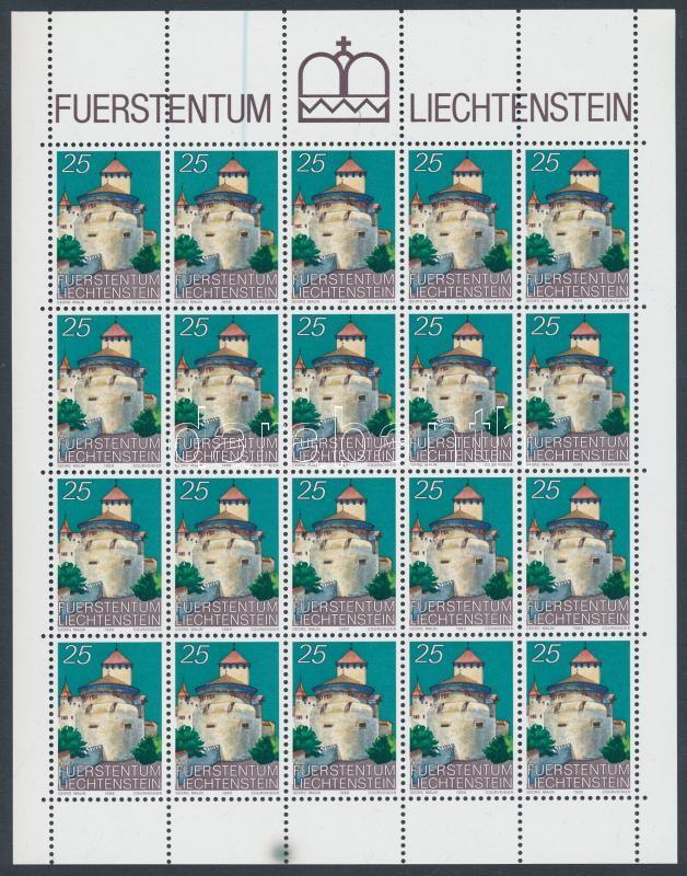 Forgalmi: a vadúzi kastély kisív, Definitive: Vaduz Castle minisheet