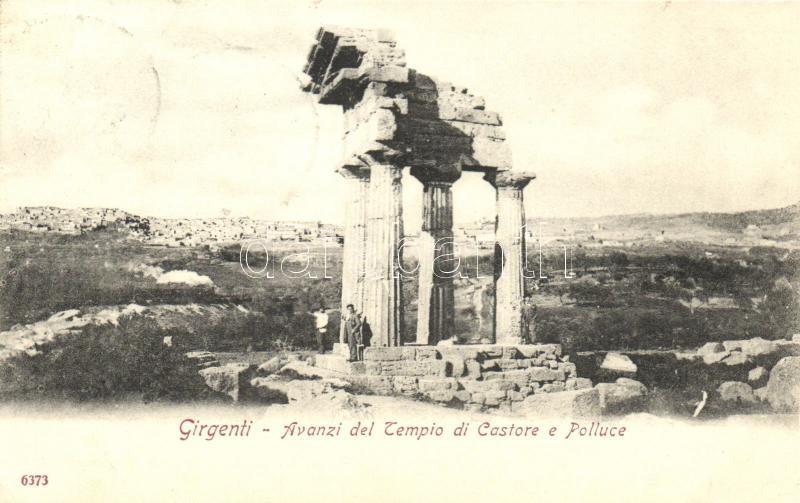 Rome, Roma; Avanzi del Tempio di castore e Polluce / tempe ruins