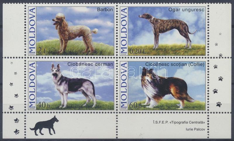 Dogs corner block of 4, Kutyafajták ívsarki négyestömb