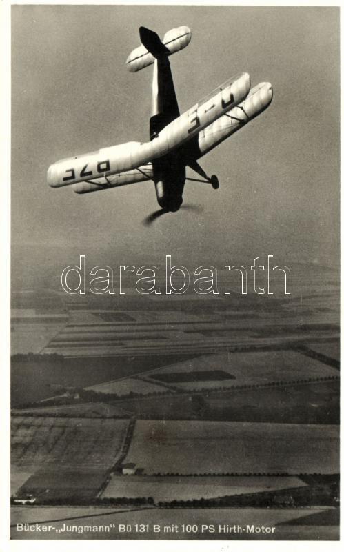 Bücker-Jungmann Bü 131 B mit 100 PS Hirth-Motor / WWII German Luftwaffe aircraft, II. világháborús német Luftwaffe repülőgép