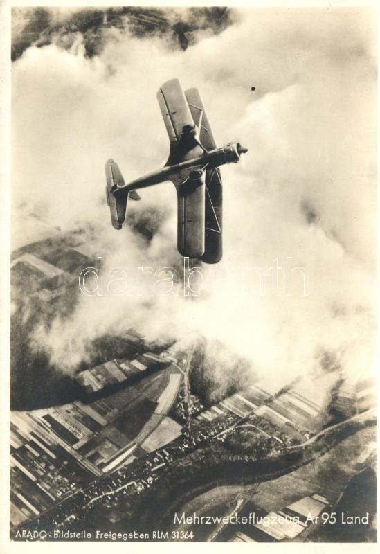 Mehrzweckeflugzeug Ar 95 Land; Arado Bildstelle / German aircraft, Német repülőgép