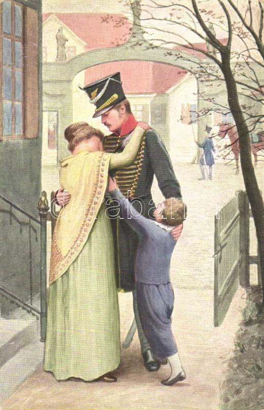 Abshied / Farewell, German military, romantic s: Adolf Hering, Búcsú,  német katona s: Adolf Hering