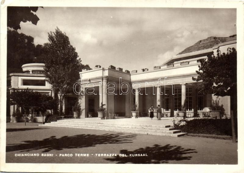 Chianciano Terme, Parco, Terrazza del Kursaal / sanatorium, spa, terrace
