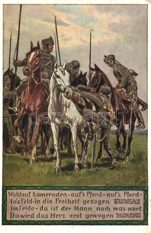 Eichsfeldlied / German military song illustration s: P. Hey, Német katonai dal illusztráció s: P. Hey