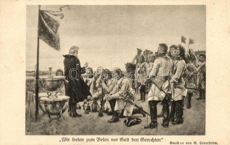 Swedish military card s: Gustaf Cederström, Svéd katonai kártya s: Gustaf Cederström