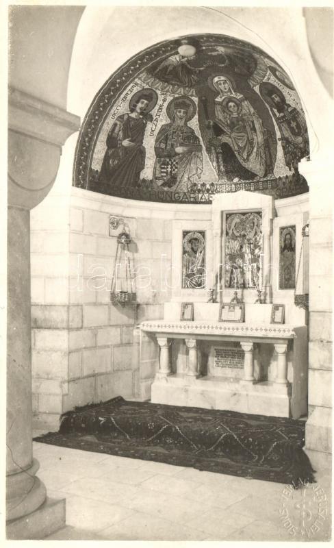 Dormition Abbey, Hungarian chapel interior, photo, Magyarok kápolnája a Dormitio (Szűz Mária elszenderülése) bazilikában