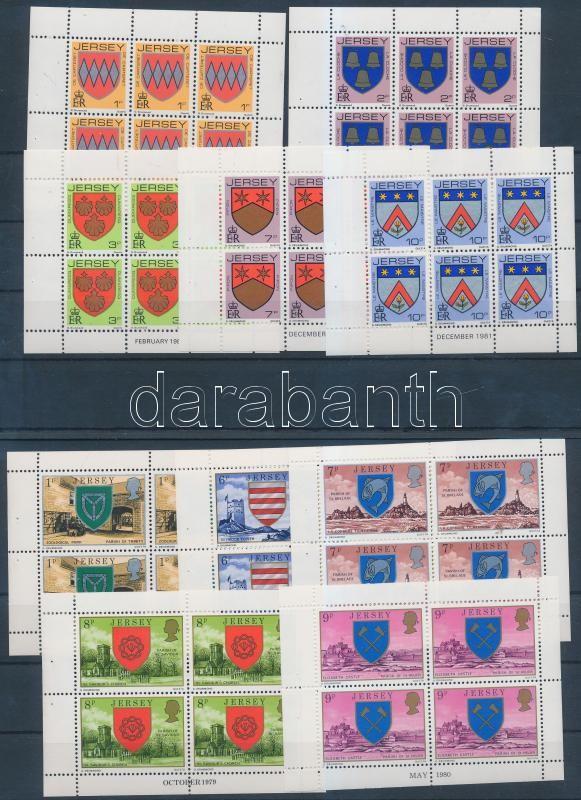 10 diff stampbooklet sheets, 10 különféle bélyegfüzet lap