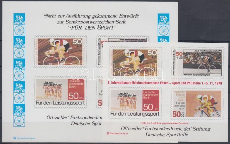 Sport emlékív megvalósulatlan bélyegek képeivel, Sport memorial sheet with unrealized stamp pictures