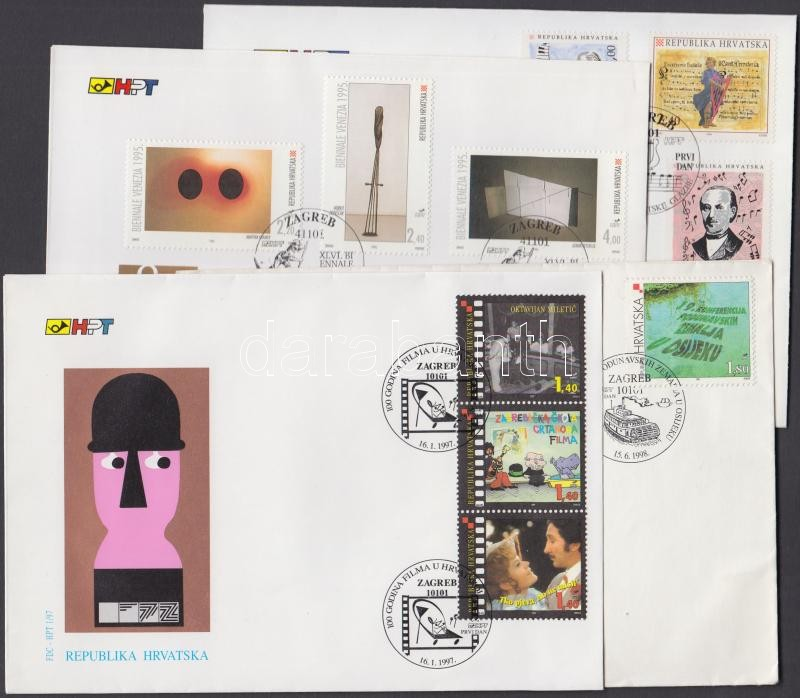 8 diff. FDC, 8 klf FDC
