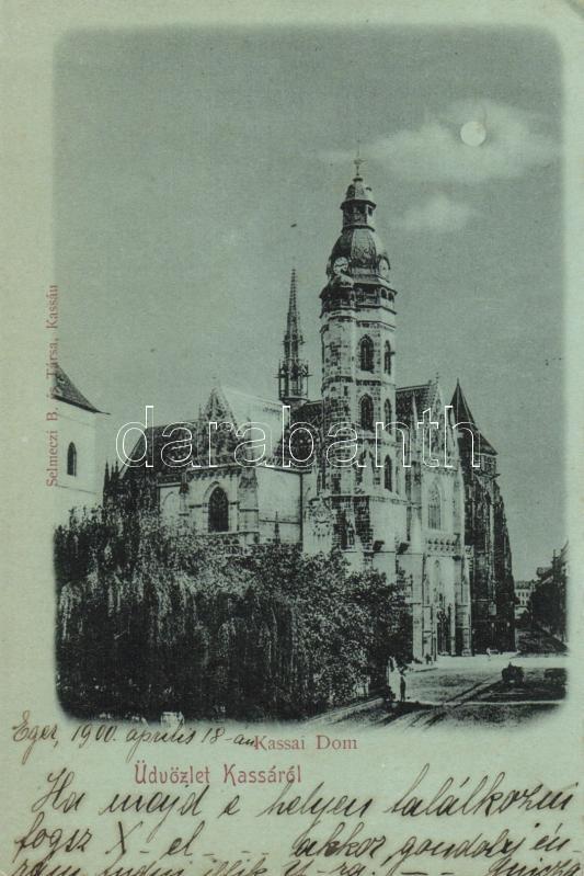Kosice, cathedral, Kassa, dóm, kiadja Selmeczi B. és társa