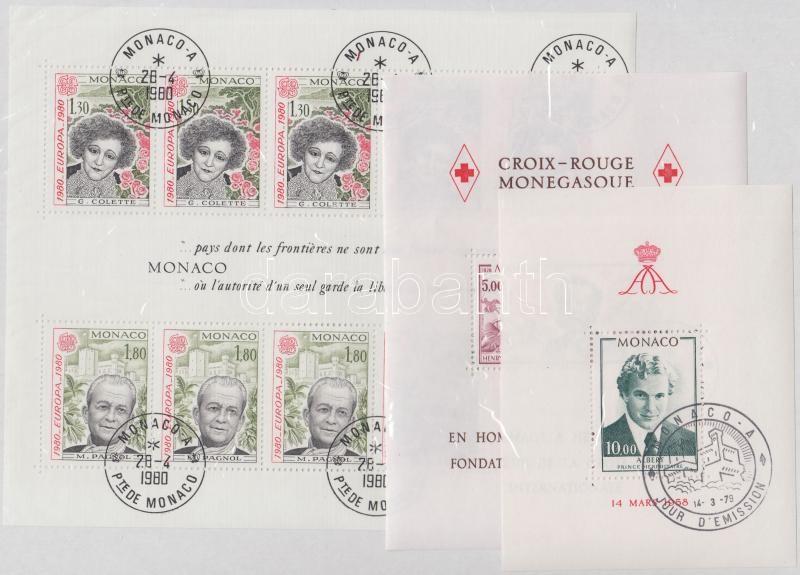 1978-1980 2 blocks + mini sheet, 1978-1980 2 db blokk + kisív