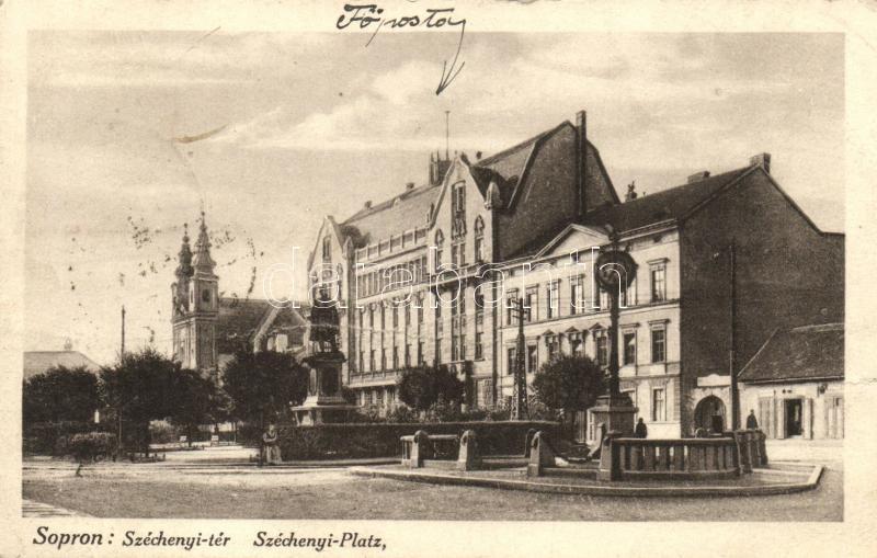 Sopron, Széchenyi tér, Fő posta